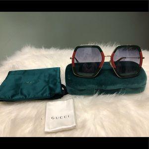 Oversized Square frame Gucci Sunglasses